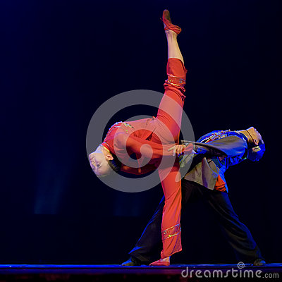 Chinese modern dancers Editorial Photography