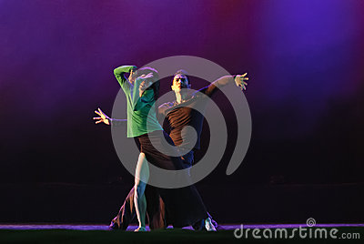 Chinese modern duo dancers Editorial Photography