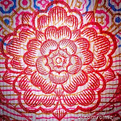 Chinese money rmb background flower