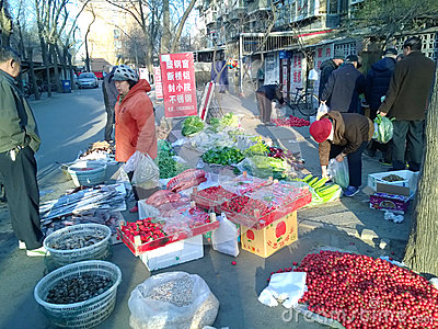 Chinese morning market Editorial Image