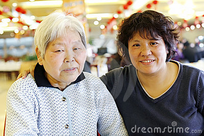 Chinese mother-daughter