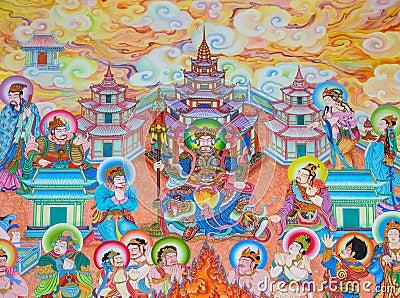 Chinese mural painting art stock photo image 64306181 for Chinese mural painting