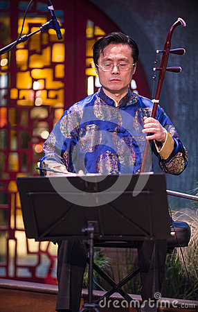Chinese musician Editorial Stock Image