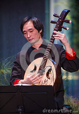 Chinese musician Editorial Stock Photo