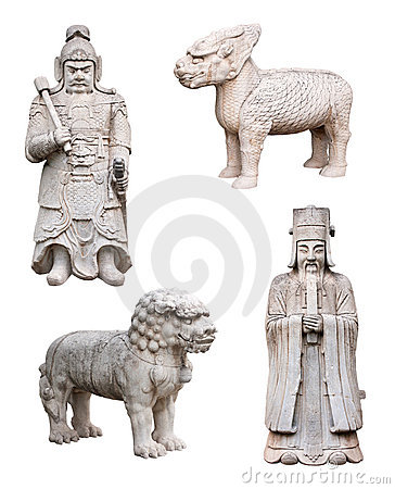 Free Chinese Mythical Animals, Soldier, King, Isolated Royalty Free Stock Images - 21510609