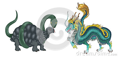 4 Chinese mythical creature gods set 2 - Turtle an