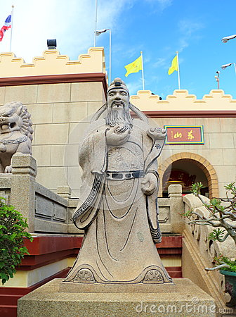 Chinese mythology statues in Chinese temple