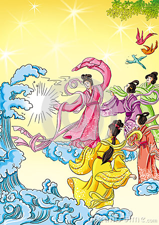 CHINESE MYTHS&LEGENDS:seas change into mulberry fields