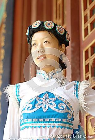Chinese Naxi woman