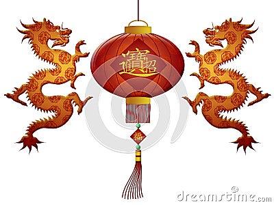 Chinese New Year 2012 Lantern Dragons