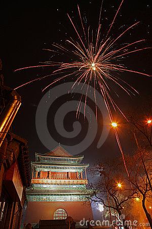 Chinese New Year in Beijing Editorial Stock Photo