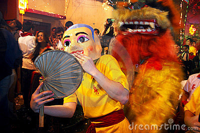 The Chinese New year Celebration In Kolkata-India Editorial Photography