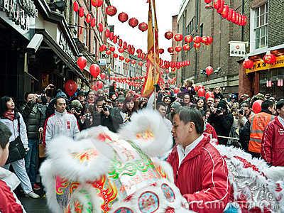 Chinese New Year Celebrations Editorial Stock Image