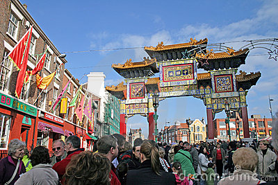 Chinese New Year Celebrations in Liverpool Editorial Photo