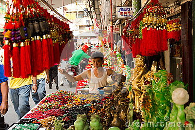 Chinese new year in Chinatown, Manila, Philippines Editorial Stock Image