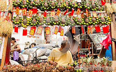 Chinese new year in Chinatown, Manila, Philippines Editorial Image