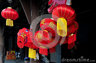 Chinese New Year Decorations 2013 Editorial Stock Photo