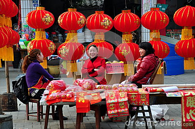 Chinese New Year Decorations 2013 Editorial Photography