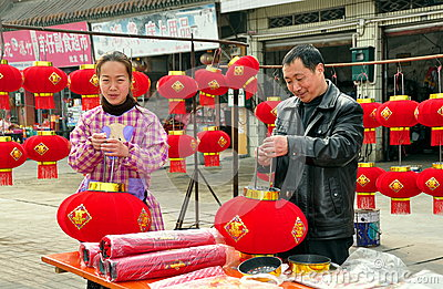 Chinese New Year Decorations 2013 Editorial Stock Image