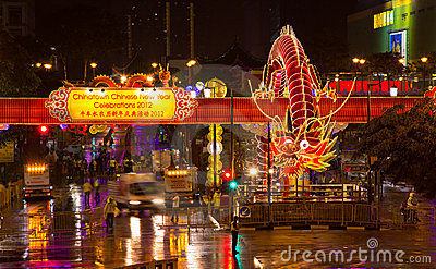 Chinese New Year Dragon 2012 Editorial Photography