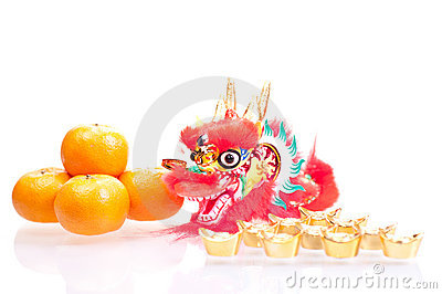 Chinese new year with dragon