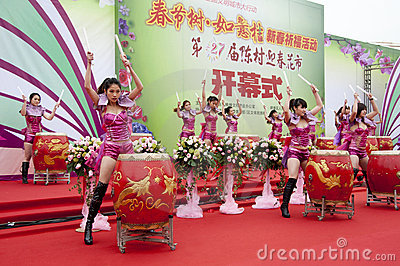 Chinese New Year Festivities Show Editorial Stock Photo