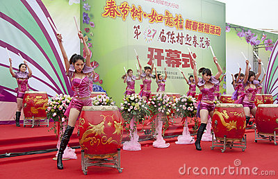 Chinese New Year Festivities Show Editorial Image