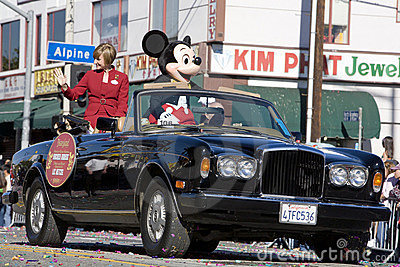 Chinese New Year Grand Marshall Mickey Mouse Editorial Stock Image