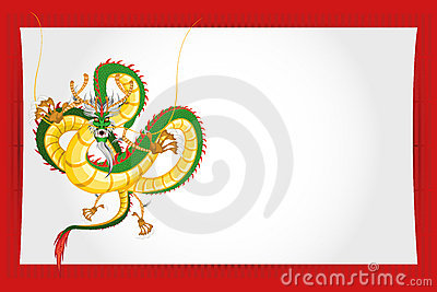 Chinese New Year Greeting Card Dragon