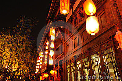 Chinese new year in Jinli old street