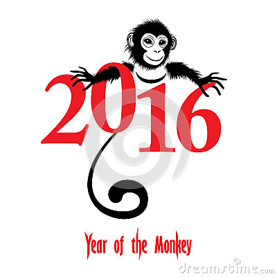 Chinese New Year 2016 (Monkey Year) Stock Vector - Image: 53677942
