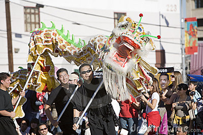 Chinese New Year Parade Dragon 11 Editorial Photo