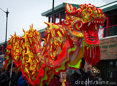 Chinese New Year Parade Dragon Editorial Image