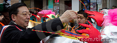 Chinese New Year Parade Painting the Ejyes Editorial Stock Image