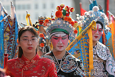 Chinese new year parade, in Paris, France Editorial Image