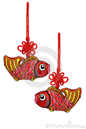 Chinese New Year prosperity fish ornaments
