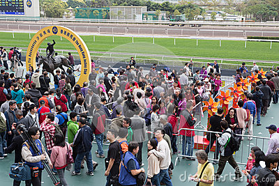 Chinese New Year Raceday in Hong Kong Editorial Photography