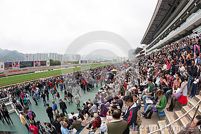 Chinese New Year Raceday in Hong Kong Editorial Stock Photo