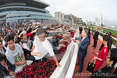 Chinese New Year Raceday in Hong Kong Editorial Stock Image