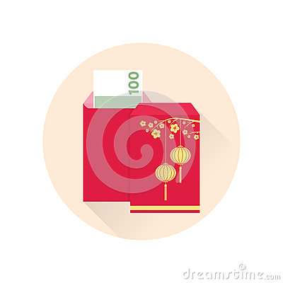 Free Chinese New Year Red Envelope Flat Icon. Stock Images - 83152384