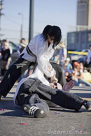 Chinese New Year Self Defense Demo 9 Editorial Image