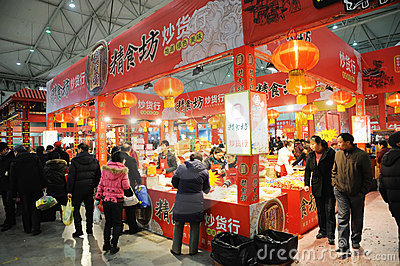 Chinese new year shopping in chengdu Editorial Stock Photo
