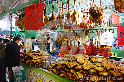Chinese new year shopping festival in sichuan Editorial Photo