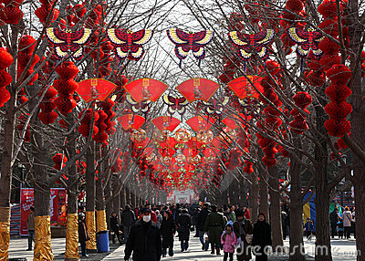 Chinese New Year / Spring Festival Temple Fair Editorial Photo