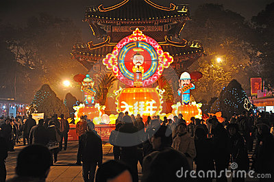 Chinese New Year Temple Fair in chengdu Editorial Stock Photo