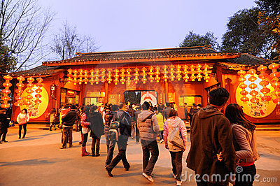 Chinese New Year Temple Fair in chengdu Editorial Image