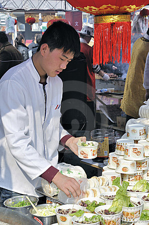 Chinese New Year Temple Fair in wuhan Editorial Stock Photo
