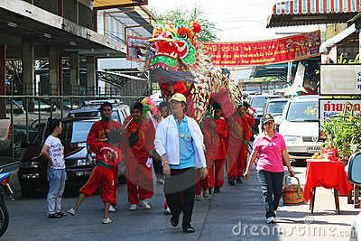 Chinese new year, Thailand. Editorial Photography