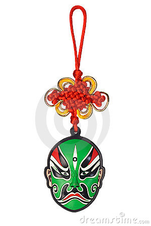 Chinese new year traditional opera mask ornament
