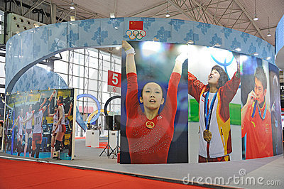 Chinese olympic committee stand Editorial Photo